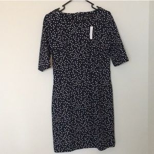 BANANA REPUBLIC, Navy/White Polkadot Dress
